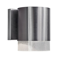 Forte Lighting 1253-01-55DS Signature 1 Light 9 inch Brushed Nickel Outdoor Wall Light
