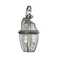 Forte Lighting 1301-02-34 Signature 2 Light 21 inch Antique Pewter Outdoor Wall Light