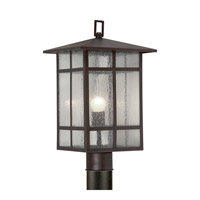 Forte Lighting 1319-01-32 Signature 1 Light 18 inch Antique Bronze Outdoor Post Light