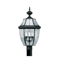 Forte Lighting 1604-03-04 Signature 3 Light 24 inch Black Outdoor Post Light