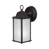 Forte Lighting 17003-01-04 Signature 1 Light 11 inch Black Outdoor Wall Light