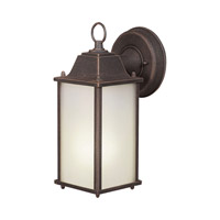 Forte Lighting 17003-01-28 Signature 1 Light 11 inch Painted Rust Outdoor Wall Lantern