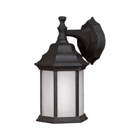 Signature 1 Light 12 inch Black Outdoor Wall Light