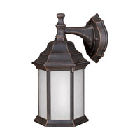 Forte Lighting 17004-01-28 Signature 1 Light 12 inch Painted Rust Outdoor Wall Light