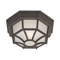 Signature 1 Light 12 inch Painted Rust Outdoor Flush Mount