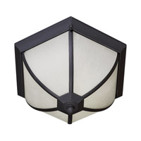 Forte Lighting 17007-02-04 Signature 2 Light 15 inch Black Outdoor Flush Mount