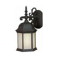 Forte Lighting 17008-01-04 Signature 1 Light 16 inch Black Outdoor Wall Lantern