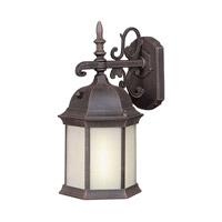 Forte Lighting 17008-01-28 Signature 1 Light 16 inch Painted Rust Outdoor Wall Lantern