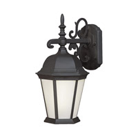 Forte Lighting 17013-01-04 Signature 1 Light 18 inch Black Outdoor Wall Light