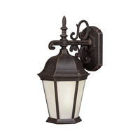 Forte Lighting 17013-01-28 Signature 1 Light 18 inch Painted Rust Outdoor Wall Light