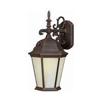 Forte Lighting 17015-01-28 Signature 1 Light 16 inch Painted Rust Outdoor Wall Lantern