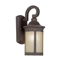 Forte Lighting 17022-01-28 Signature 1 Light 16 inch Painted Rust Outdoor Wall Lantern