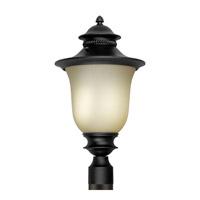 Forte Lighting 17031-01-04 Signature 1 Light 21 inch Black Outdoor Post Lantern