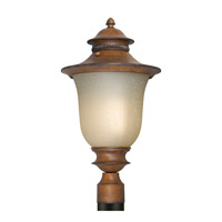 Forte Lighting 17031-01-41 Signature 1 Light 21 inch Rustic Sienna Outdoor Post Lantern photo thumbnail