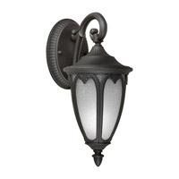 Forte Lighting 17048-01-04 Signature 1 Light 14 inch Black Outdoor Wall Lantern