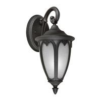 Forte Lighting 17049-01-04 Signature 1 Light 18 inch Black Outdoor Wall Lantern