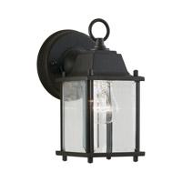Forte Lighting 1705-01-04 Signature 1 Light 9 inch Black Outdoor Wall Light
