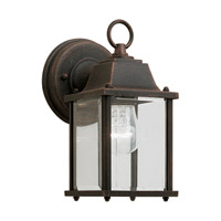 Forte Lighting 1705-01-28 Signature 1 Light 9 inch Painted Rust Outdoor Wall Light