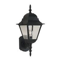 Forte Lighting 1707-01-04 Signature 1 Light 16 inch Black Outdoor Wall Light