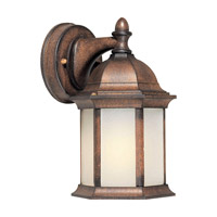 Forte Lighting 17076-01-41 Signature 1 Light 10 inch Rustic Sienna Outdoor Wall Lantern