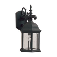 Forte Lighting 1708-01-04 Signature 1 Light 16 inch Black Outdoor Wall Light