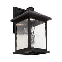 Signature LED 14 inch Black Outdoor Wall Light