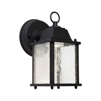 Forte Lighting 17103-04 Signature LED 9 inch Black Outdoor Wall Light