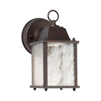 Signature LED 9 inch Antique Bronze Outdoor Wall Light