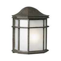 Forte Lighting 1719-01-59 Signature 1 Light 10 inch River Rock Outdoor Wall Light