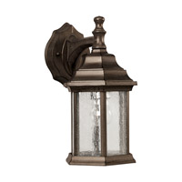 Forte Lighting 1725-01-18 Signature 1 Light 12 inch Olde Bronze Outdoor Wall Light