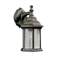 Forte Lighting 1725-01-59 Signature 1 Light 12 inch River Rock Outdoor Wall Light