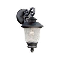 Forte Lighting 1726-01-04 Signature 1 Light 14 inch Black Outdoor Wall Light