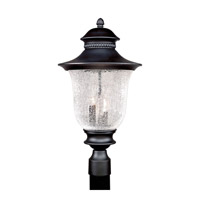 Forte Lighting 1727-03-04 Signature 3 Light 21 inch Black Outdoor Post Light