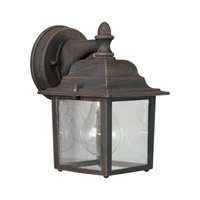 Forte Lighting 1745-01-28 Signature 1 Light 9 inch Painted Rust Outdoor Wall Light