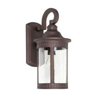 Forte Lighting 1771-01-32 Signature 1 Light 16 inch Antique Bronze Outdoor Wall Light