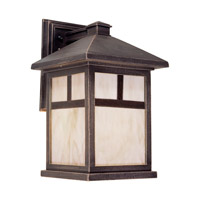 Forte Lighting 1797-01-28 Signature 1 Light 10 inch Painted Rust Outdoor Lantern