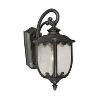 Forte Lighting 1819-01-04 Signature 1 Light 20 inch Black Outdoor Wall Lantern