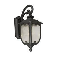 Forte Lighting 1820-01-04 Signature 1 Light 23 inch Black Outdoor Wall Lantern