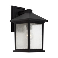 Forte Lighting 1856-01-04 Signature 1 Light 14 inch Black Outdoor Wall Light