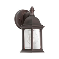 Forte Lighting 1876-01-32 Signature 1 Light 10 inch Antique Bronze Outdoor Wall Light