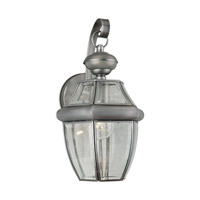 Forte Lighting 19007-01-54 Signature 1 Light 14 inch Olde Nickel Motion Sensor Light