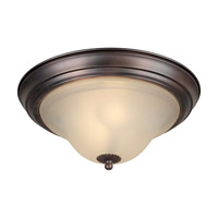 Forte Lighting 20026-02-32 Signature 2 Light 13 inch Antique Bronze Flush Mount Ceiling Light