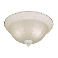 Forte Lighting 2037-02-03 Signature 2 Light 13 inch White Flush Mount Ceiling Light