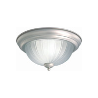 Forte Lighting 2037-02-55 Signature 2 Light 13 inch Brushed Nickel Flush Mount Ceiling Light
