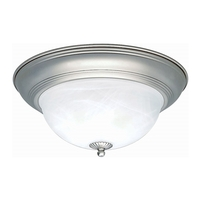 Forte Lighting 2129-02-55 Signature 2 Light 14 inch Brushed Nickel Flush Mount Ceiling Light