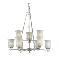 Forte Lighting 2180-09-55 Signature 9 Light 31 inch Brushed Nickel Chandelier Ceiling Light