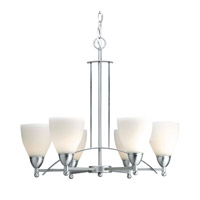 Forte Lighting 2231-06-55 Signature 6 Light 24 inch Brushed Nickel Chandelier Ceiling Light