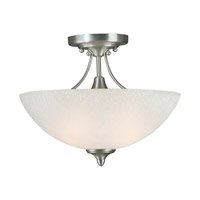 Forte Lighting 2378-02-55 Signature 2 Light 14 inch Brushed Nickel Semi Flush Mount Ceiling Light