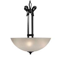 Forte Lighting 2396-04-11 Signature 4 Light 20 inch Natural Iron Bowl Pendant Ceiling Light