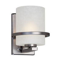Forte Lighting 2404-01-55 Signature 1 Light 7 inch Brushed Nickel Wall Sconce Wall Light